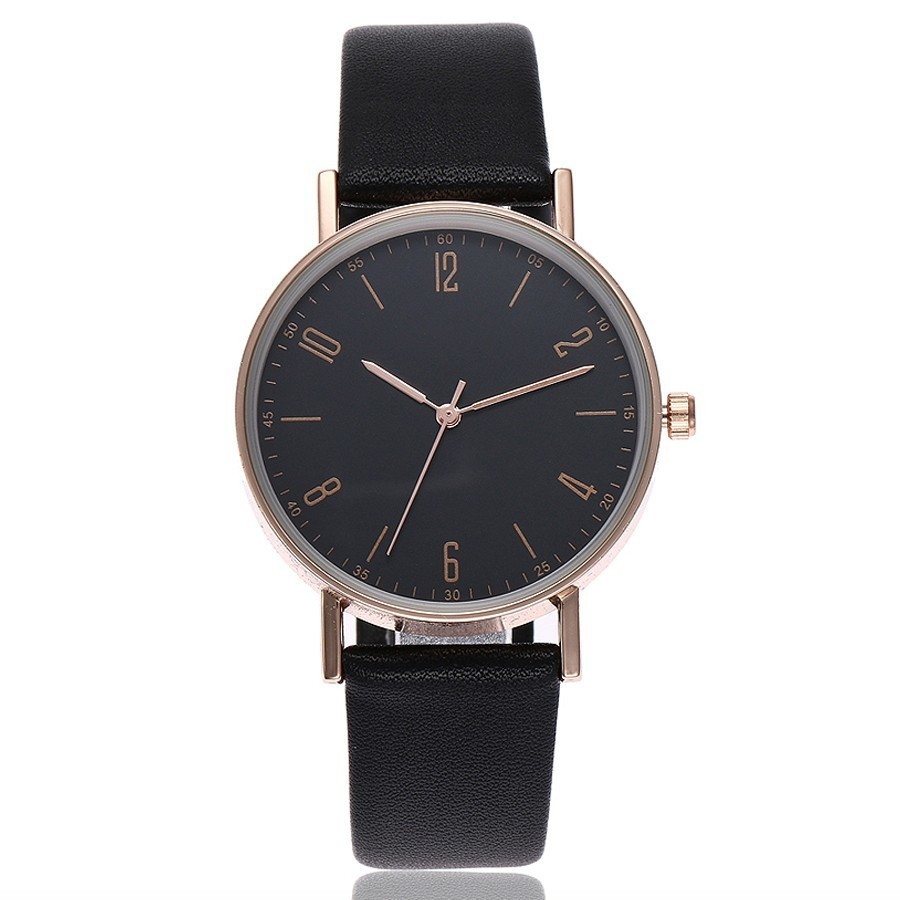 High Quality Women Rose Gold Watches Top Brand Luxury Leather Strap Quartz Watch For Women's Dress Wristwatches Female Clock