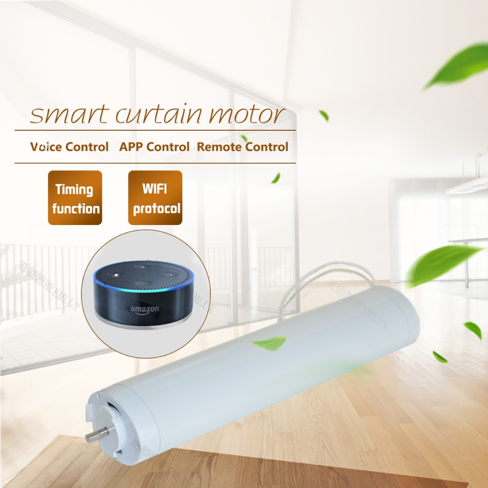 US $60 92 47% OFF WIFI Electric Curtain Motor, ewelink app / remote control  voice control via alexa echo and google home for smart home-in Automatic