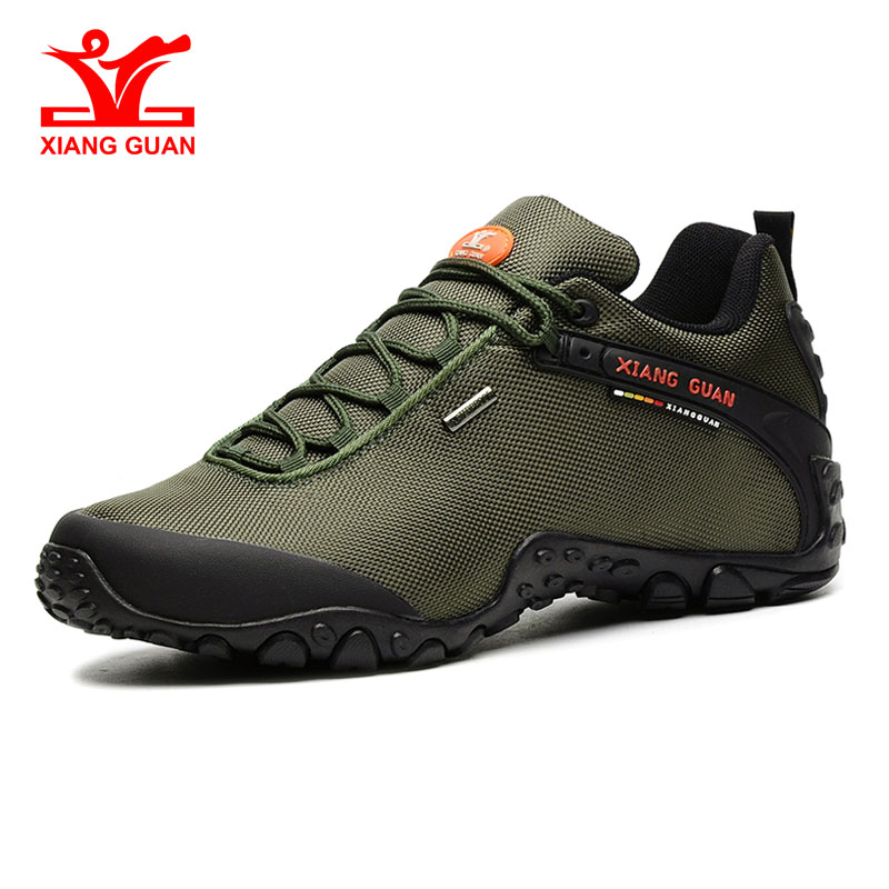 Image 2 - XIANG GUAN Outdoor Hiking Shoes EUR size 36 48 Men Breathable Anti skid Windproof black Women travel Boots Trend Sports Sneakers-in Hiking Shoes from Sports & Entertainment