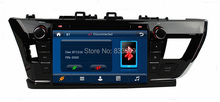 HD 2 din 9″ Car DVD GPS Navigation for Toyota Corolla 2014 With Bluetooth IPOD TV Radio/ RDS SWC AUX IN