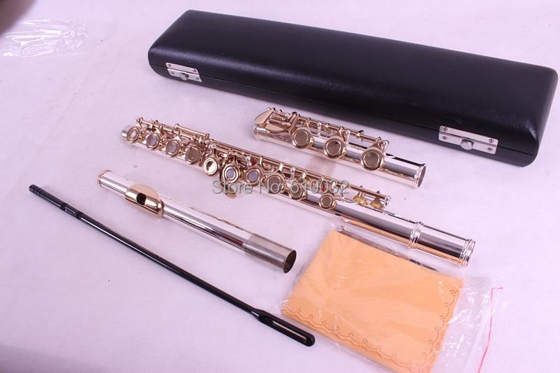 1 pcs New flute 17 hole Open Hole Powerful Sound Profession E key Golden Keys new color 17 open hole purple flute e key case