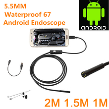 Endoscope Camera 5.5MM 2in1 Micro USB Camera Mini Camcorders Waterproof 6 LED Borescope Inspection Camera for Android 9mm 2in1 5m mini usb endoscope otg car 6 led borescope inspection security cctv android camera 2 0mp hd micro waterproof camera