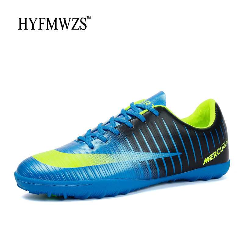 HYFMWZS Krasovki Turf Boys Soccer Shoes Superfly Kids Football Boots Men Breathable Soccer Cleats Antiskid Chaussure Football