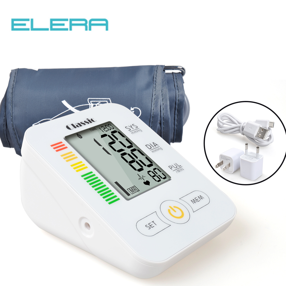 ELERA Home Health Care Blood Pressure Monitor Automatic Digital Blood Pressure Meter For Measuring Upper  Arm Tonometer Gauge