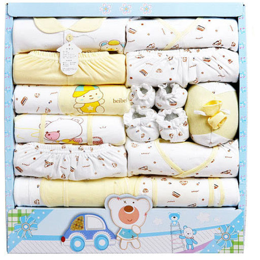 15Pcs/Set) High Quality 100% Cotton Newborn Baby Clothing Gift ...