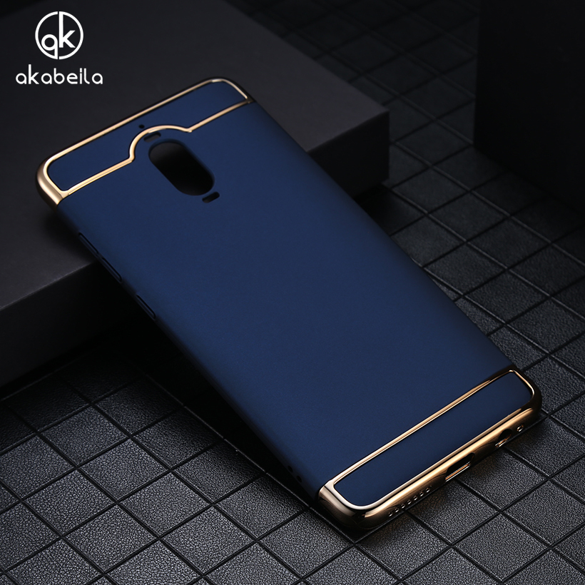 AKABEILA Phone Case For Huawei Mate 9 Pro Mate 9 Porsche Design Covers Bright Series Plating Hard PC Plastic Cases Shells Bags