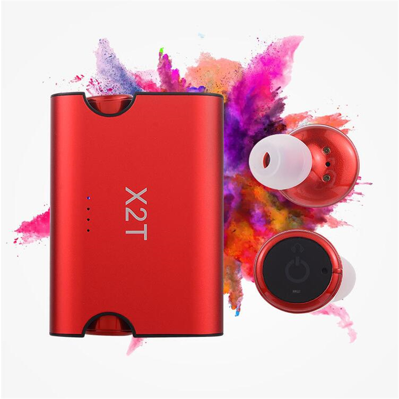 Wireless Bluetooth 4.1 TWS X2T Mini Earphones 1500mAh Magnetic Charger Box for ios/Android Noise Canceling Earbuds Headphones