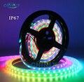 WS2812B tira de LED individualmente direccionable RGB inteligente píxeles Strip1m/4 m/5 m negro/blanca PCB WS2812 IC impermeable 5 V/30/60/144 leds