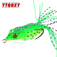 YTQHXY Soft Frog Fishing Minnow 1Pcs 6cm 14g Lifelike Mix Crank Lures Silicone Wobblers Top water spinner bait Lure WQ68