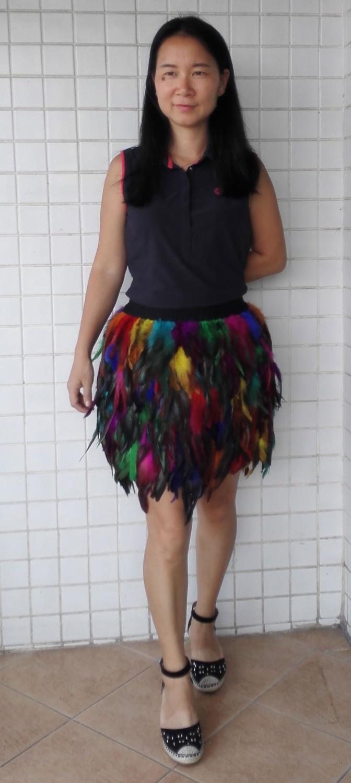 En couleur Jupe Skt16009 Pour Gradins Balle La Rainbow Cocktail Arc Plume Coque en Partie Coq wacpq1X