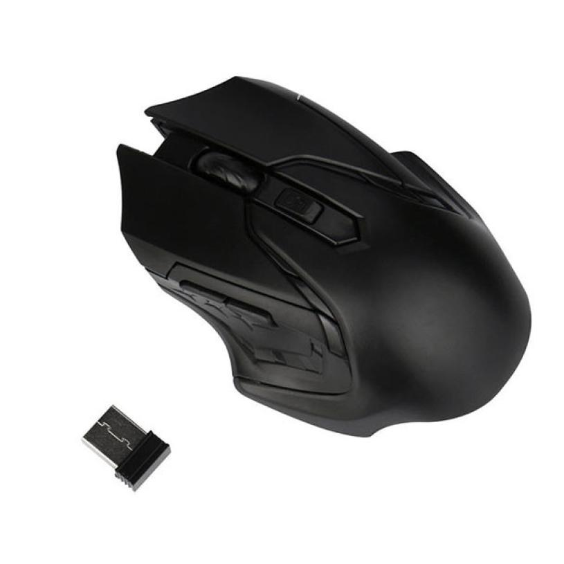 New 1pc 2.4GHz 3200DPI Mouse Gamer Optical Wireless Mouse+ 1PC USB Receiver For Computer ...