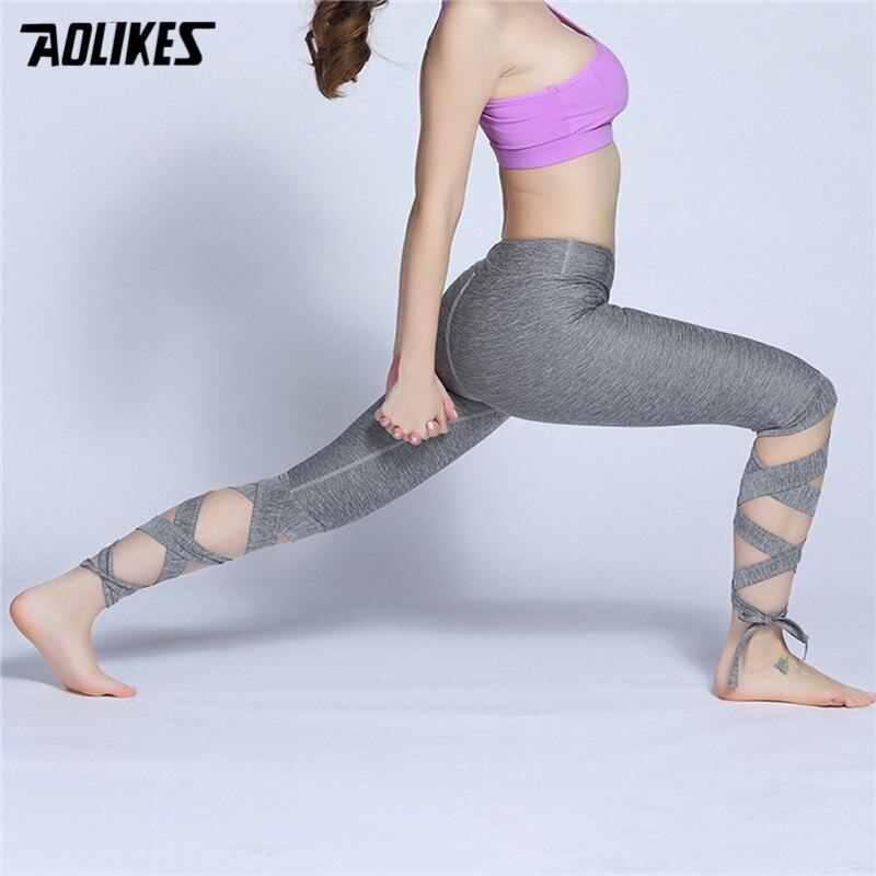 Women Ballerina Yoga Pants Sport Leggings High Waist Fitness Cross Yoga Ballet Dance Tight Bandage Cropped Fifth Pants Sports