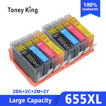 2 Set Compatible cartucho de tinta hp 655 para hp 655 CZ109AE para hp deskjet serie 3525, 5525, 4615, 4625 4525, 6520, 6525, 6625