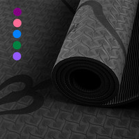 Yoga Mat 6mm TPE With Body Line Positions Non slip Pilates Dance Workout Mat Gym Gymnastics Exercise Pad Fitness Yoga Mattress