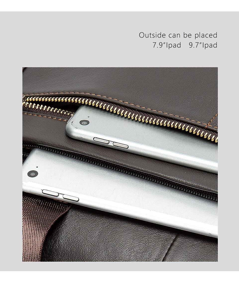 HTB1uHZpUbvpK1RjSZPiq6zmwXXaL MVA men's briefcase/genuine Leather messenger bag men leather/business laptop office bags for men briefcases men's bags 8572