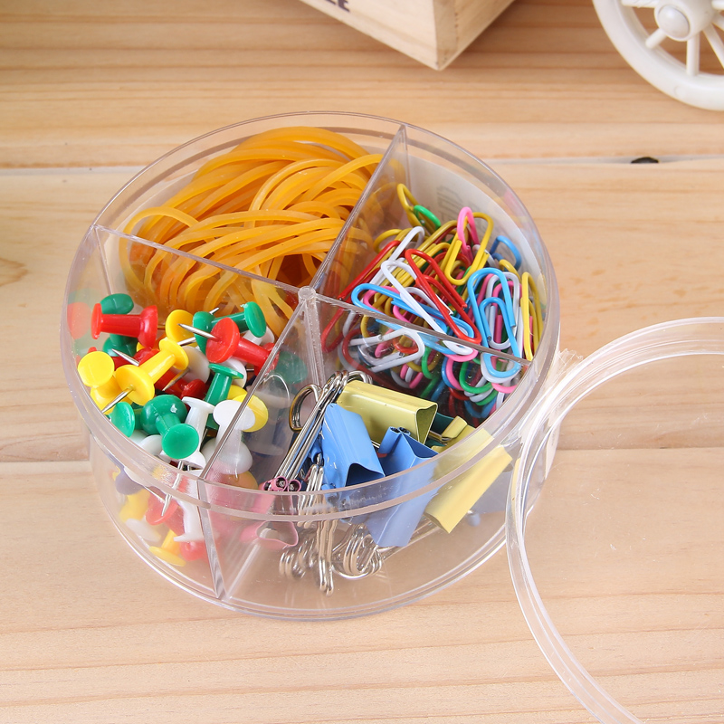 1 Pack Stationery Set Push Pin Round Paper Clips Binder Clips Rubber Band Office School Supplies Deli 8500  цены