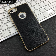 For iphone 6 6s Original Case Luxury TPU Crocodile Leather Soft Cases Back Cover for iphone 7/7plus Phone Bags Coque Capa