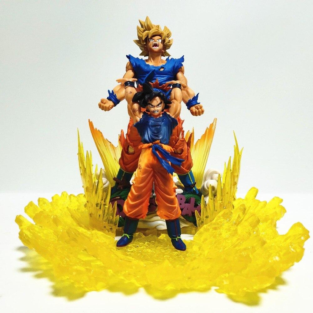 Dragon Ball Z Goku Super Saiyan Evolution Action Figures Scene Dragon Ball Super Son Goku Model Toy Figurine Anime DBZ
