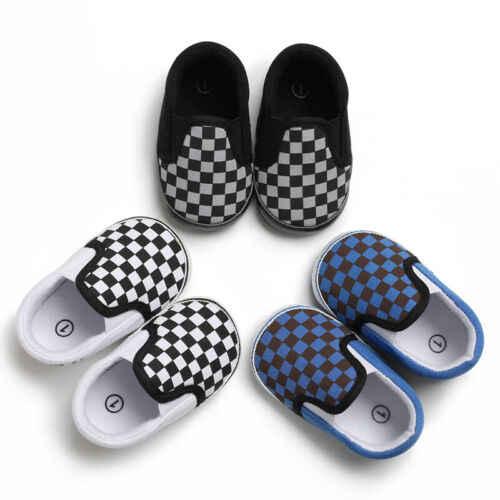 Newborn Baby Boy Girl Crib Pram Shoes PreWalker Soft Sole Slippers Trainers 0-18