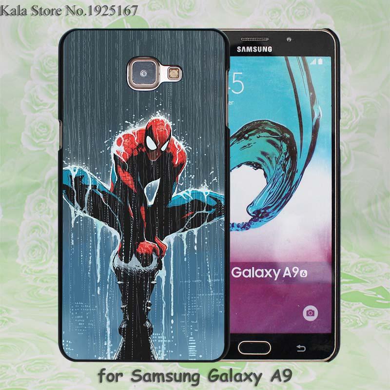 <font><b>Super</b></font> hero <font><b>spider</b></font> <font><b>man</b></font> Pattern hard black <font><b>Case</b></font> Cover for <font><b>Samsung</b></font> <font><b>Galaxy</b></font> A7 A710 A8 A9 A5 A510 A3 A310