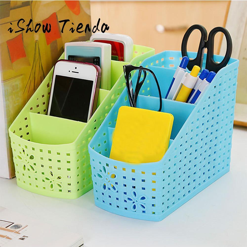 Mini 4 Grids Desk Storage Office Organizer Box Case Cosmetic Organizer Holder#25