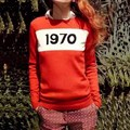 Free shipping New Fashion 2017 Autumn Spring Women Oversize Letter Pullovers Sweaters Brand Sweaters