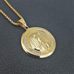 Image 4 - חדש קתולי דתי תכשיטי מרים בתול תליוני זהב צבע נירוסטה מדונה קולייר עבור נשים 2020 שרשרת