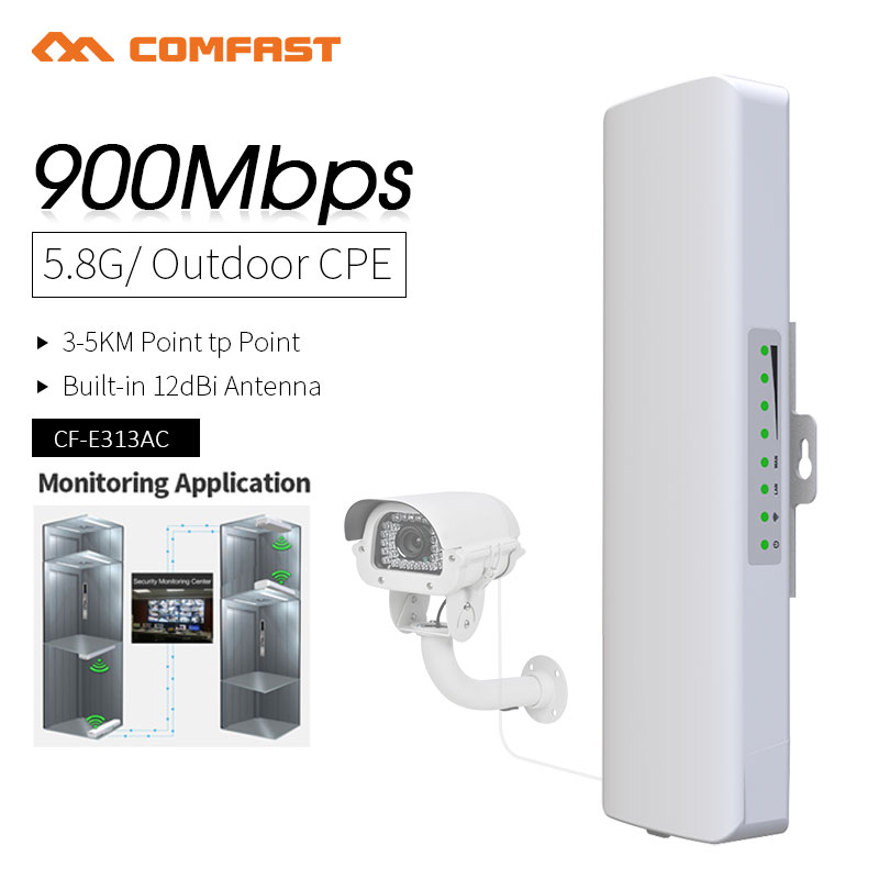 COMFAST High Power Wireless Bridge 5 8G 3 5KM Long Range 900Mbps Wireless Outdoor CPE Nanostation