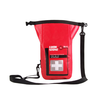 New Portable 5L Waterproof First Aid Bag With Shoulder Strap Outdoor Survival Emergency Kits For Outdoor Camp Hiking Fishing 3