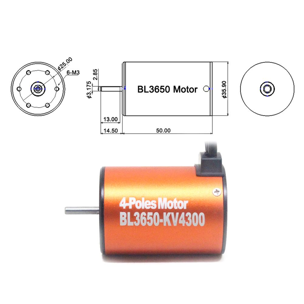 F540 BL 3650 4300KV Brushless Motor For 1/10 RC Racing Buggy Truck Car M09 free shipping rc car 1 10 tram 540 550 3650 motor with fans radiator heat sink for 3650 3660 3670 3674 540 550 size motor