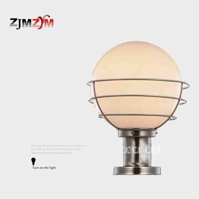DL 0101 Outdoor Waterproof Pillar Lamp Classic Round Ball Lamp Gate Lights  Stainless Steel Stigma