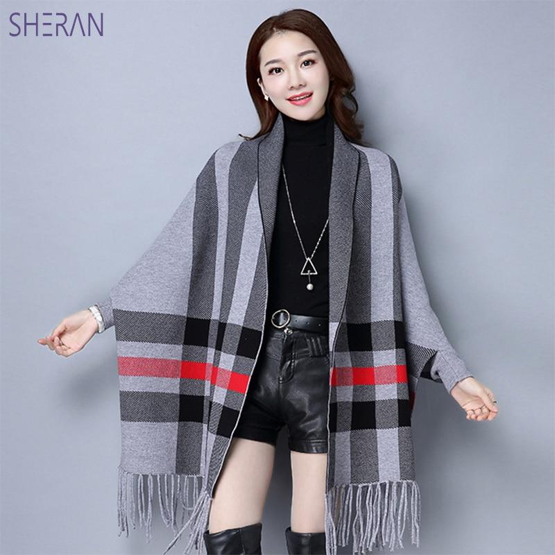 Chandails mode 2018 femmes automne Hiver tricot Cardigan à manches longues gland tricoté Pull femmes Pull Femme Hiver châle chandails