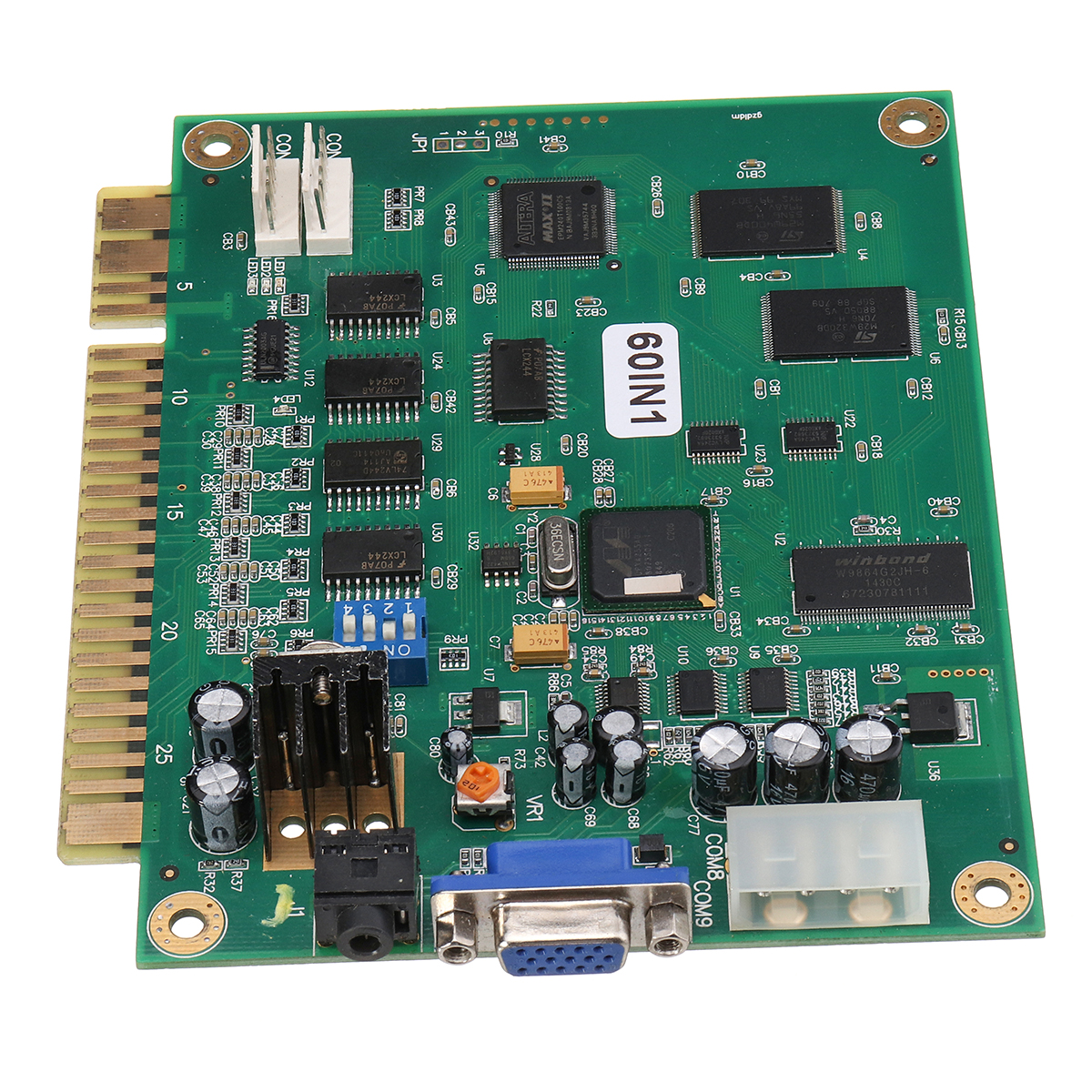 Classic 60 In 1 Vertical Multi Arcade Game JAMMA Board Support CGA / VGA  Output MAME For Arcade Game Machine For Joystick Arcade