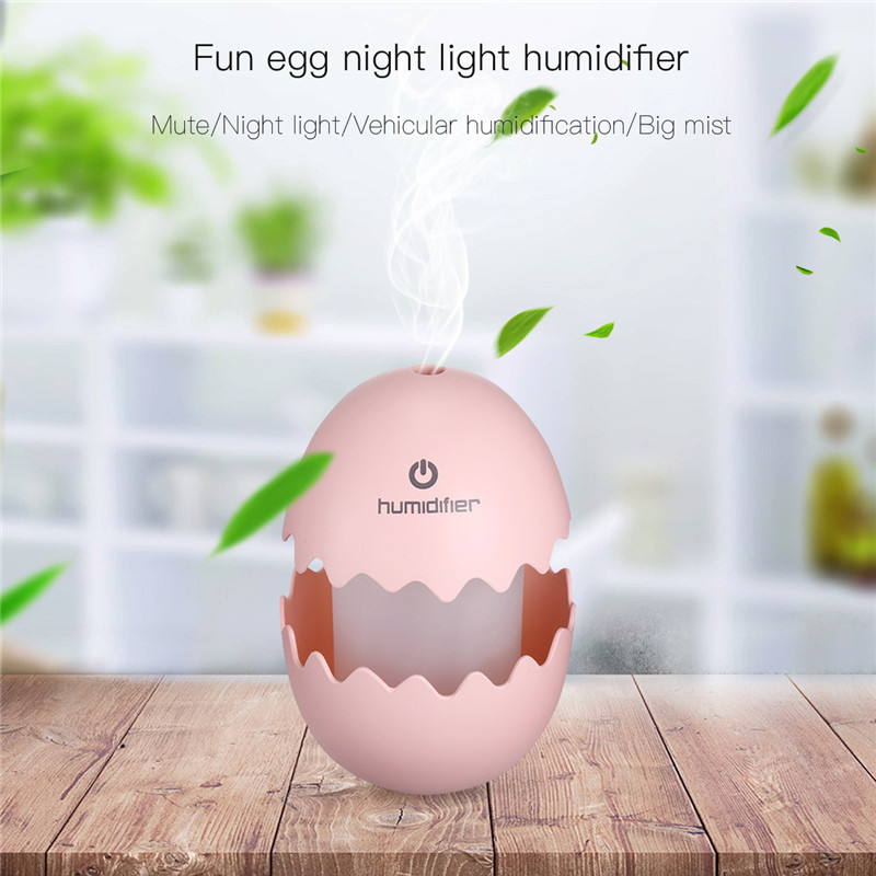 100ml Fun Egg Air Humidfier USB Air Purifier Freshener With LED Lamp Aroma Diffuser Mist Maker Fogger For Home Car OfficeBedroom