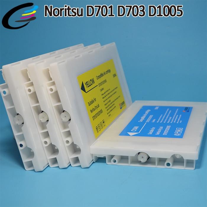 Cartouches dencre compatibles Noritsu D701 D703 D1005 HR avec puce 500 MLCartouches dencre compatibles Noritsu D701 D703 D1005 HR avec puce 500 ML