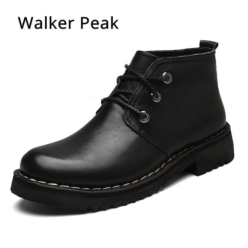 Размер 38-49 из кожи с натуральным лицевым покрытием Русский стиль ручной работы теплые меховые большие размеры Мужская зимняя обувь, Зимние ... ...