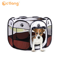 Eight sided Cage Removable And Washable Folding Octagonal Pet Fence Oxford Cloth Waterproof Scratch resistant Dog Tent