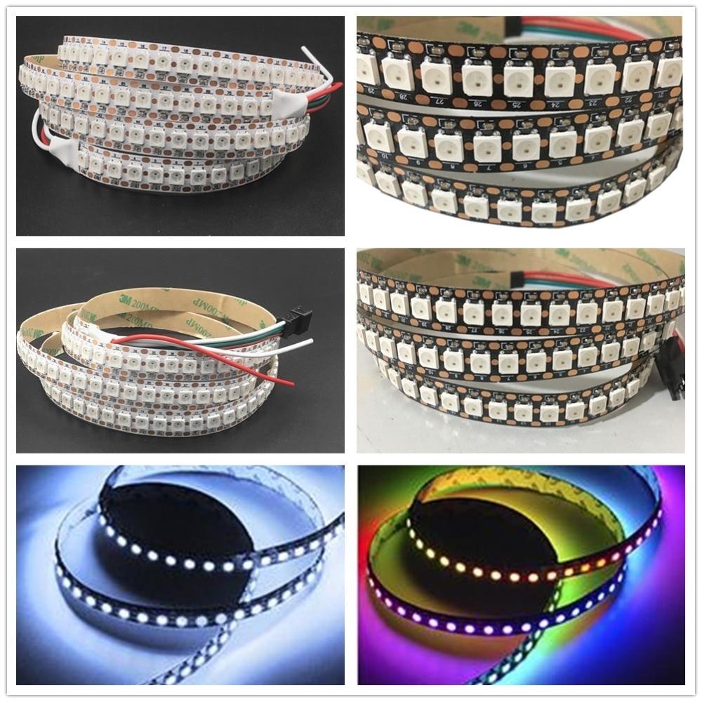 Led Lighting Strict Ws2812 Ic 0.5m 1m Ws2812b Smart Led Pixel Strip,black/white Pcb,144 Pixels/m,ip30/ip65/ip67 Dc5v Individually Addressable Lamp For Sale