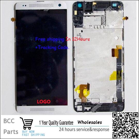 Лучшее качество! Для HTC One Mini M4 601e ЖК-Дисплей + Сенсорный Экран Digitizer с рамкой 100% Реальные Оригинальные Тест + Трек