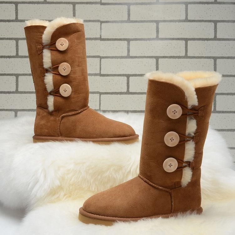 2016 Australia fashion Women Genuine Sheepskin Leather Snow Boots 100% Natural Fur Snow Boots Warm Wool Winter Boots 2016 australia fashion women genuine sheepskin leather snow boots 100% natural fur snow boots warm wool winter boots