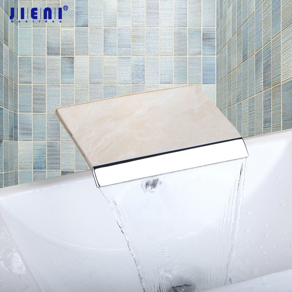 Waterfall Wall Mounted Polished Chrome Shower Bathroom Basin Sink Brass Tap Mixer Faucet chrome polished solid brass bathroom sink faucet waterfall spout bathroom basin mixer tap wall mounted