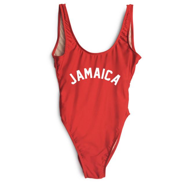 JAMAICA Bañador de Una Pieza Del Mono de Los Mamelucos Mujeres Sexy BeachSwimwear Styly
