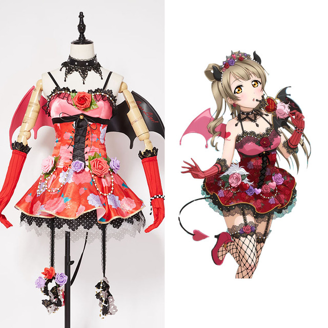 Amor En Vivo! nueva SR Kotori Minami Little Devil Transformado Uniforme Cosplay Traje de Halloween Para Las Mujeres Niñas