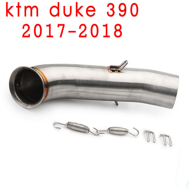 Slip-on Motorcycle Exhaust Pipe Muffler Middle Link Pipe Connect Tube For KTM DUKE 390 250 Duke RC 390 RC390 2017 2018 Year