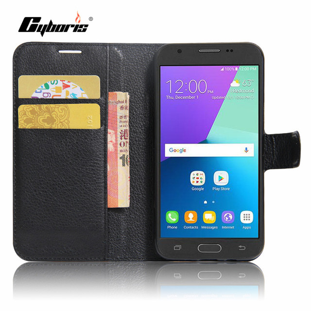 9b6aa3300ff CYBORIS Luxury Phone Funda Case For Samsung Galaxy J3 Prime / J3 2017/ J3  Emerge Coque Flip Cover Bags with Stand Card Holder