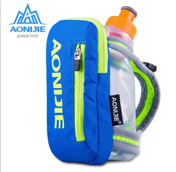 Prix pour AONIJIE E907 Nylon Marathon Bouilloire Pack Sports de Plein Air Sac Randonnée À Vélo de Course Main Tenir Bouilloire Sac pour 250 ml Doux flacon
