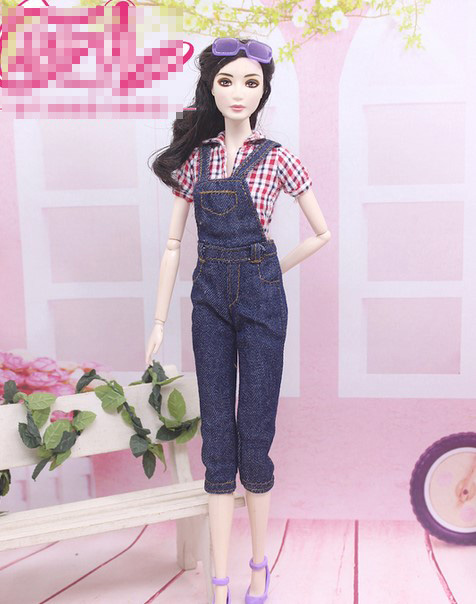 Doll Rompers clothes trousers pants top clothes accessories for barbie dolls BBI00779 high quality elastic leather bottoms pants trousers for barbie doll clothes fashion outfit for 1 6 bjd dolls accessories