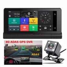 ADAS Cámara Del DVR Del Coche de 6.86 PULGADAS 4G Android 5.1 GPS navegación WIFI Monitor Remoto Videocámara Dash cam Registrador Dual de la lente Bluetooth