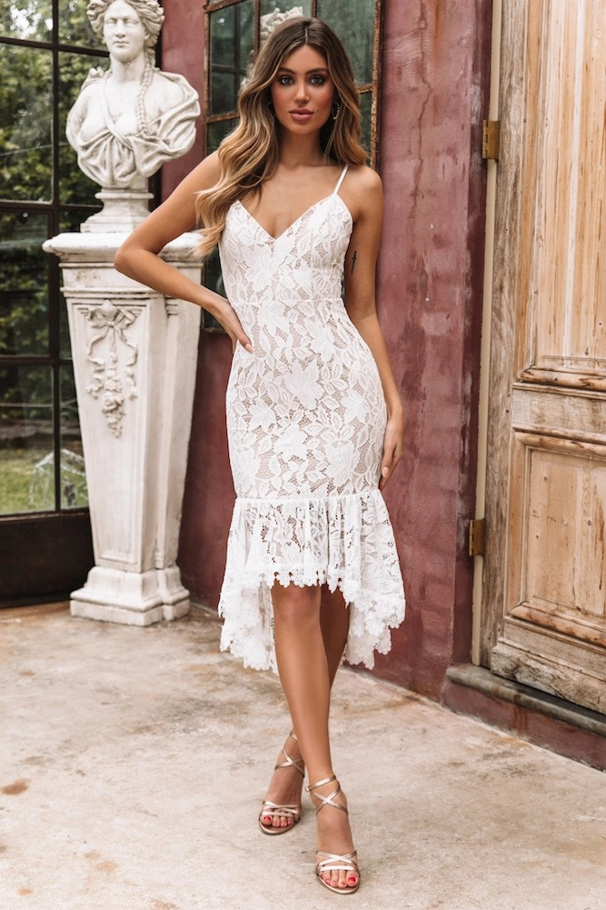 <font><b>Women's</b></font> <font><b>Sexy</b></font> <font><b>Lace</b></font> <font><b>Dress</b></font> V-neck <font><b>Solid</b></font> Color Cotton Irregular <font><b>Dress</b></font> Summer Mermaid Vintage <font><b>Dress</b></font> Empire <font><b>Sleeveless</b></font> <font><b>Elegant</b></font> Robes image