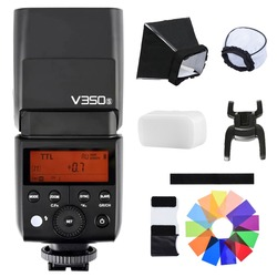 Godox V350S TTL HSS 1/8000s Speedlite Flash With Built-in 2000mAh Li-ion Battery  For Sony A77 A77 II A7R